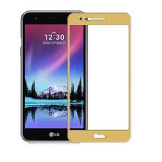 Lg K10 2017 Screen Protector Tempered Glass 2 5D 3Mm Full Screen Edge List Warna Gold Murah