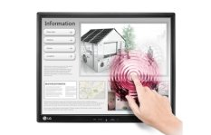 LG LED Monitor 17MB15T Touch Screen - Hitam