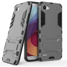 LG Q6 Case, Moon Case 2 In 1 Hybrid Rugged Armor Case S Cover Slim Tipis Anti-gores Shockproof Protective Sleeves (seperti Yang Ditunjukkan) -Intl