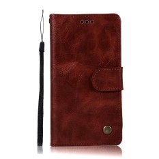 LG Q6 / Q6 Plus Wallet Case, Kunpon Classic Series Ultra Thin Slim Fit Premium PU Leather Flip Folio Case with ID Credit Card Slot, Cash Clip, Stand Holder Soft TPU Shockproof Interior Protective Shell Cover Case for LG Q6 / Q6 Plus - Wine Red - intl