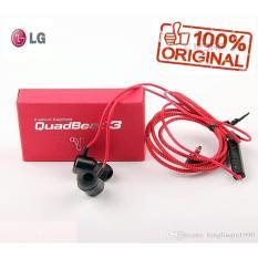 Jual Lg Quadbeat 3 Handsfree With Mic Volume Control For All Phone Model Stereo Original Merah Import