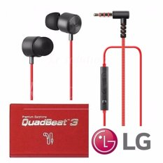 Lg Quadbeat 3 Original In Ear Headphone Handsfree Merah Original