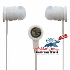 LG Stereo Portable Handsfree / Headphone / Headset / Earphone Original - Putih