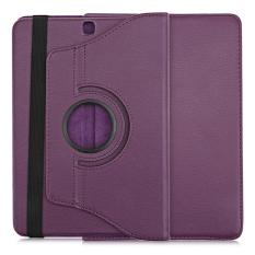 Lichee Pattern 360 Degree Rotating Cover With Auto Sleep Wake Up Function For Samsung Galaxy Tab S2 9.7 Wifi / Lte T810 / T815(Purple) - intl