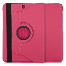 Lichee Pola 360 Degree Rotating Cover dengan Auto Tidur Bangun Fungsi untuk Samsung Galaxy Tab S2 9.7 WIFI/ LTE T810/T815 (Rose Merah) -Intl