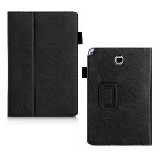 Lichee Gaya PU Kulit Stand Cover untuk Samsung Galaxy Tab A 9.7 Inch (Hitam)