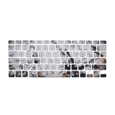 Jual Life Painted Silicone Keyboard Protector For Macbook Pro 13 Inch Retina Marble Lux Termurah