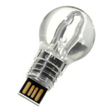 Penawaran Istimewa Light Bule Style Glass Usb Flash Drive Memory Stick U Disk Memory Pen Blue Light 8G Terbaru