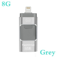 Promo Lightning 3 In 1 Card Reader Usb Flash Drive 8 Gb 16 Gb 32 Gb 64 Gb Untuk Iphone Lightning Ke Logam Pen Drive U Disk Untuk Ios10 Memory Stick Emas Rose Emas Hitam Abu Abu Intl Murah