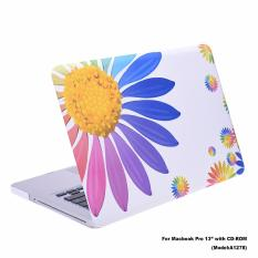Lightning Power-Rubberized Plastic Hard Shell Cover Case untuk MacBook Pro 13 ''(Model: A1278) W/A CD-ROM Drive, Model Tampilan NON Retina (Bunga Matahari Pola)-Intl