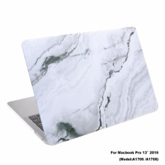 Lightning Power-Rubberized Plastic Hard Shell Cover Case for NewMacBook Pro 13 inches (Model: A1706 & A1708. Released in 2016).White Marble Pattern (White Marble Pattern) - intl