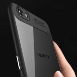 Ringan Hybrid Case untuk OPPO R9s Plus/F3 Plus Anti-Scratch Clear Acrylic Back + Soft TPU Bumper Penutup Hitam-Internasional | Lazada Indonesia