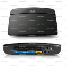 Linksys Cisco Wifi router E1200 Ethernet Wireless Port LAn RJ45 First Media Indihome Biznet Antenna Antena