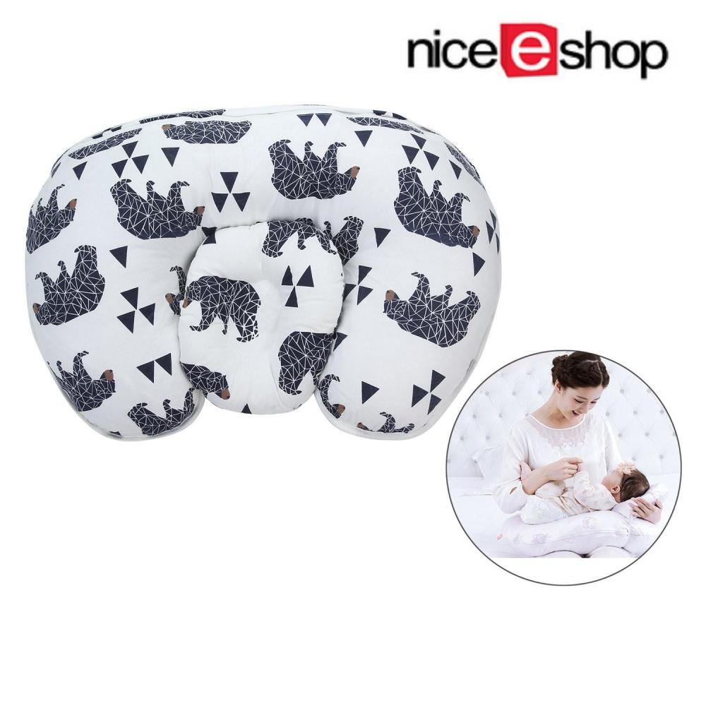 Linxing Baby Nursery Pillow untuk Bersalin Melindungi Pinggang/mendukung Berbaring Miring/Breastfeeding, Panda Gaya-Intl