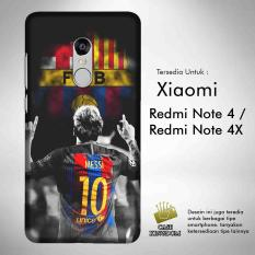 Harga Hemat Lionel Messi Barcelona 1 Casing Custom Hardcase Xiaomi Redmi Note 4 4X Case Cover