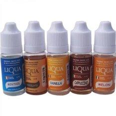 Jual Liqua Paket 5 Botol Liquid 20Ml Vapor Rokok Elektrik Rasa Campur Lengkap