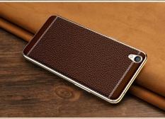 Litchi Pola Kulit Phone Case Soft PC Pelindung Belakang Menutupi untuk OPPO A37-Intl