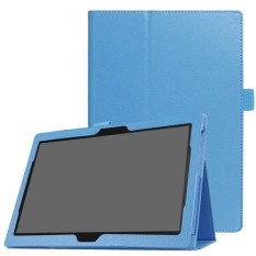 Litchi Skin Universal Leather Stand Folio Case for Lenovo Tab 4 10 Plus / Tab 4 10 - Baby Blue - intl