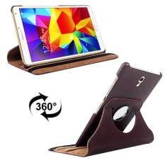 Litchi Texture 360 Degree Rotation Leather Case with 2 Gears Holder & Sleep / Wake-up Function for Samsung Galaxy Tab S 8.4 / T700 / T705(Brown) - intl