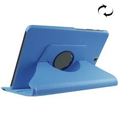Lengkeng Tekstur Horizontal Flip Solid Warna Leather Case dengan 360 Derajat Rotasi Pemegang untuk Samsung Galaxy Tab S2 9.7/ T815 (Biru) -Intl