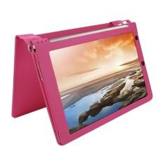 Lengkeng Tekstur Magnetik Case dengan Penahan untuk Lenovo YOGA Tablet 10/B8000 & 10 HD +/B8080-F (WMC1562) (Magenta)-Internasional