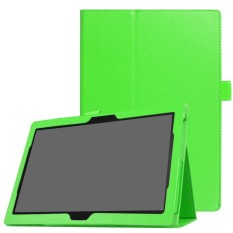 Litchi Texture Universal PU Leather Flip Case with Stand for Lenovo Tab 4 10 Plus / Tab 4 10 - Green - intl