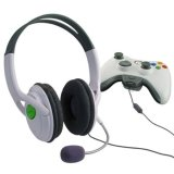 Promo Live Headset Headphone With Mikrofon For Xbox 360 Elite Slim Wireless Controller Oem