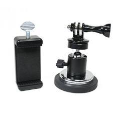Livestream Gear-Magnetik Pelapis Karet Phone Mount W/Kepala Bola untuk GoPro, Kamera Olahraga, dan Ukuran Reguler Ponsel. Bagus untuk Video, Gambar, Livestreaming, atau WOD. (Telepon XL Magnet)