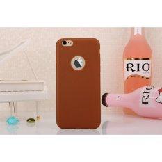 Lize Apple Iphone6 / Iphone 6 / Iphone 6G / Iphone 6S Ori Ukuran 4.7 inch / Softshell / Jelly Case / Soft Case / Soft Back Case / Silicone / Silicon / Silikon / Case Iphone / Case HP / Casing Handphone Iphone 6 - Cokelat
