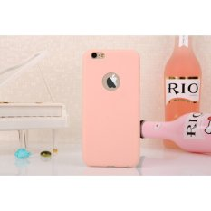 Lize Apple Iphone6 / Iphone 6 / Iphone 6G / Iphone 6S Ori Ukuran 4.7 inch / Softshell / Jelly Case / Soft Case / Soft Back Case / Silicone / Silicon / Silikon / Case Iphone / Case HP / Casing Handphone Iphone 6 - Peach
