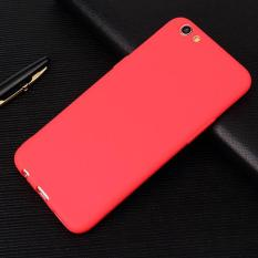 Lize Case Oppo F1S A59 Selfie Expert TPU Rubber Skin Soft Back Case /  Softshell  / Silicone Oppo F1S  / Jelly Case / Ultrathin / Case Samsung / Casing Hp - Merah / Red