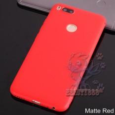 Lize Case Xiaomi MI A1 Rubber Silicone Anti Glare Skin Back Case / Silikon Xiaomi Mi A1 / Jelly Case / Ultrathin / Soft Case Slim Red Matte Xiaomi Mia1 / Casing Hp / Baby Skin Case - Merah / Red