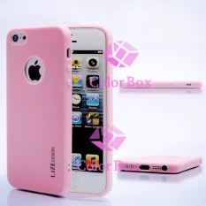 Lize Softshell Jelly Case Apple Iphone5 / Iphone 5 / Iphone 5G / Iphone 5S Ori / Soft Case / Soft Back Case / Silicone / Silicon / Silikon / Case HP / Casing Handphone - Pink