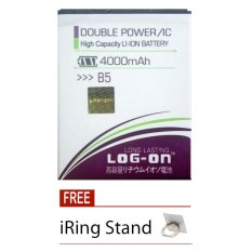 Log On Baterai Advan B5 - Double Power Battery - 4000 mAh + Free iRing Stand