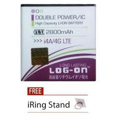 Cuci Gudang Log On Baterai Advan I4A 4G Lte Double Power Battery 2800 Mah Free I Ring Stand