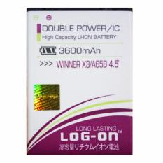 Spesifikasi Log On Baterai Evercoss Winner X3 A65B 4 5 Double Power Battery 3600 Mah Dan Harga