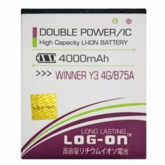 Spesifikasi Log On Baterai Evercoss Winner Y3 4G B75A Double Power Battery 4000 Mah Murah