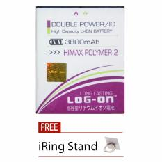Jual Beli Log On Baterai Himax Polymer 2 Double Power Battery 3800 Mah Free Iring Stand