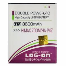Toko Log On Baterai Himax Zoom Ha 24Z Double Power Battery 3600 Mah Lengkap