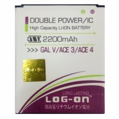 Log On Baterai Samsung Galaxy Ace 3 / Ace 4 / Galaxy V - Double Power Battery - 2200 mAh