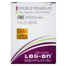 Kualitas Log On Baterai Samsung Galaxy J1 2016 Double Power Battery 4000 Mah Log On