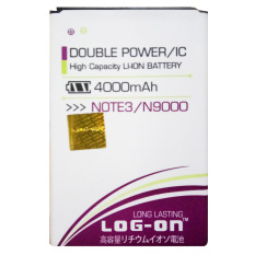 Jual Log On Baterai Samsung Galaxy Note 3 N9000 Double Power Battery 4000 Mah Log On Branded