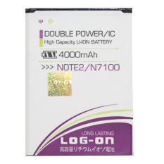 Beli Log On Baterai Samsung Note 2 Double Power Battery 4000 Mah Online
