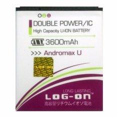 Log On Baterai Smartfren Andromax U - Double Power Battery - 3600 mAh