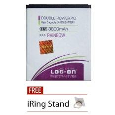 Harga Log On Baterai Wiko Rainbow Double Power Battery 3800 Mah Free Iring Stand Online Dki Jakarta