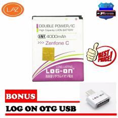 Log On Battery Asus Zenfone C Double Power 4000 Mah Free Otg Micro Promo Beli 1 Gratis 1
