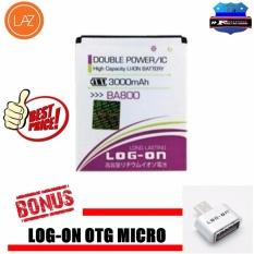 Log On Battery Baterai Double Power Ba800 Sony Xperia V Kapasitas 3000Mah Free Otg Micro Di Dki Jakarta