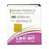 T Log On Battery Baterai Double Power For Asus Zenfone C 4000 Mah Log On Diskon 30