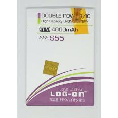 LOG-ON Battery For Advan S55 4000mAh - Double Power & IC - Garansi 6 Bulan