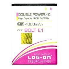 LOG-ON Battery For Bolt E1 4000mAh - Double Power & IC Battery - Garansi 6 Bulan